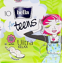 Parfumuri și produse cosmetice Absorbante For Teens Ultra Relax, 10 bucăți - Bella