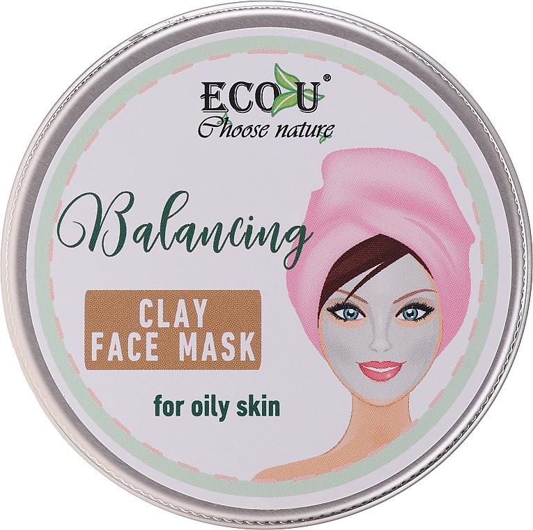 Mască pe bază de argilă pentru tenul gras - Eco U Balancing Clay Face Mask For Oily Skin