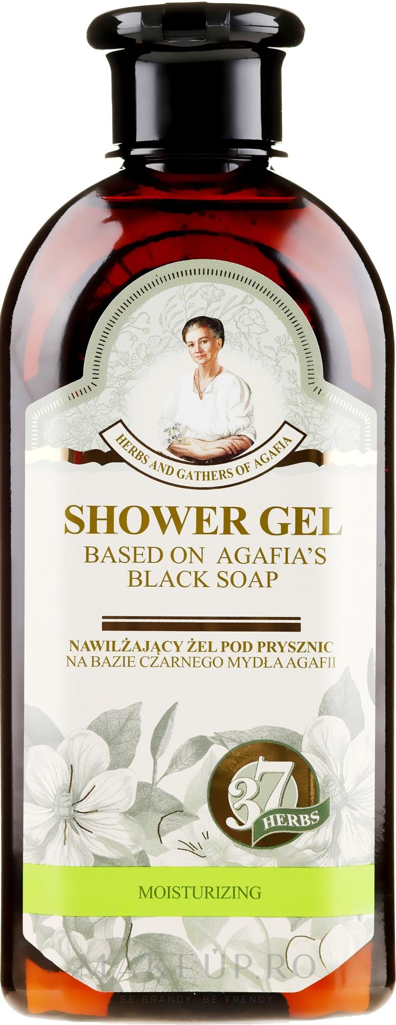 Gel de duș pe bază de săpun negru - Reţete bunicii Agafia Ierburi și Adunături — Imagine 350 ml