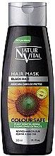Parfumuri și produse cosmetice Mască pentru menținerea culorii părului vopsit - Natur Vital Coloursafe Henna Hair Mask Black Hair