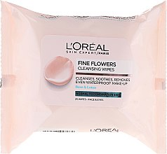 Parfumuri și produse cosmetice Șervețele pentru demachiere - L'Oreal Paris Skin Expert Fine Flowers Normal Combination Cleansing Wipes