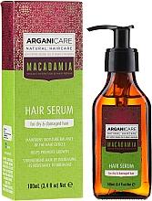 """Parfumuri și produse cosmetice Ser pentru păr """"Capete deteriorate"""" - Arganicare Macadamia Hair Serum for Dry & Damaged Hair"""