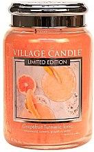 Lumânare aromată - Village Candle Grapefruit Turmeric Tonic Glass Jar — Imagine N2
