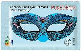 Parfumuri și produse cosmetice Mască hidrogel pentru zona ochilor - Purederm Carnival Look Eye Gel Mask Pure Butterfly