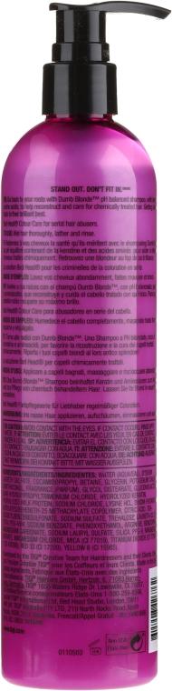 Șampon pentru păr decolorat și deteriorat - Tigi Bed Head Dumb Blonde Shampoo — Imagine N2