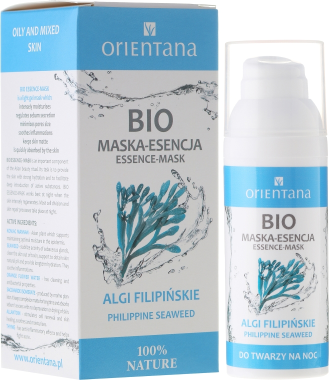 Mască pentru față - Orientana Bio Essence-Mask Philippine Seaweed — Imagine N1