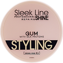 Parfumuri și produse cosmetice Gel de păr - Sleek Line Styling Gum With Silk