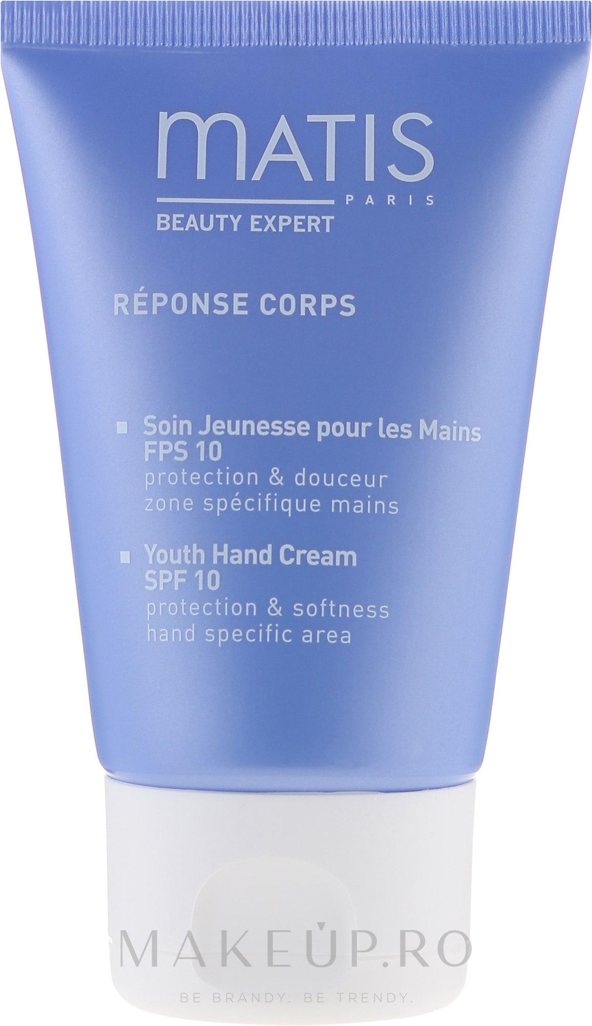 Cremă anti-rid pentru mâini - Matis Paris Reponse Corps Youth Hand Cream SPF10 — Imagine 50 ml