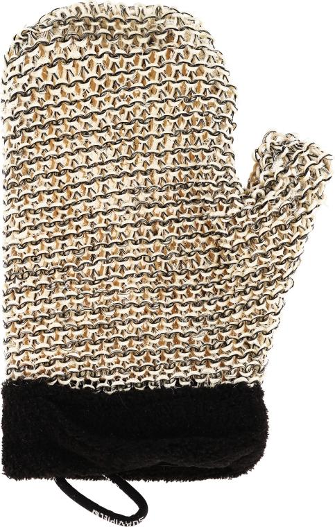 Mănușă-Burete de baie pentru bărbați - Suavipiel Black Men Sisal Glove