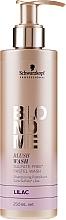 """Parfumuri și produse cosmetice Șampon fără sulfați """"Liliac"""" - Schwarzkopf Professional Blond Me Blush Wash Lilac"""