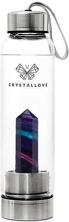 Sticlă cu cristal de fluorit irizat, 500 ml - Crystallove — Imagine N1