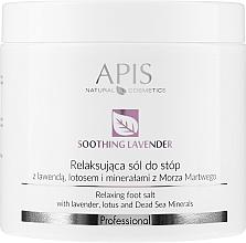Parfumuri și produse cosmetice Sare cu extract de lavandă pentru picioare - APIS Professional Lavender Soothing Relaxing Foot Salt