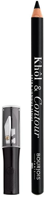 Creion pentru pleoape - Bourjois Khol & Contour Extra-Long Wear — Imagine N1