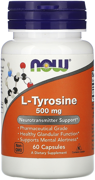 L-Tyrosine, 500 mg - Now Foods L-Tyrosine