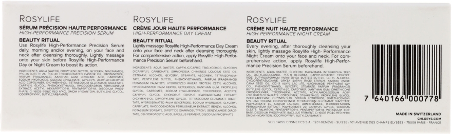 Set - Chlorys Rosylife Beauty Ritual (n/cream/10ml+d/cream/12ml+serum/10ml) — Imagine N5