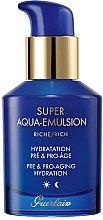 Parfumuri și produse cosmetice Emulsie hidratantă anti-îmbătrânire pentru ten matur - Guerlain Super Aqua Rich Emulsion