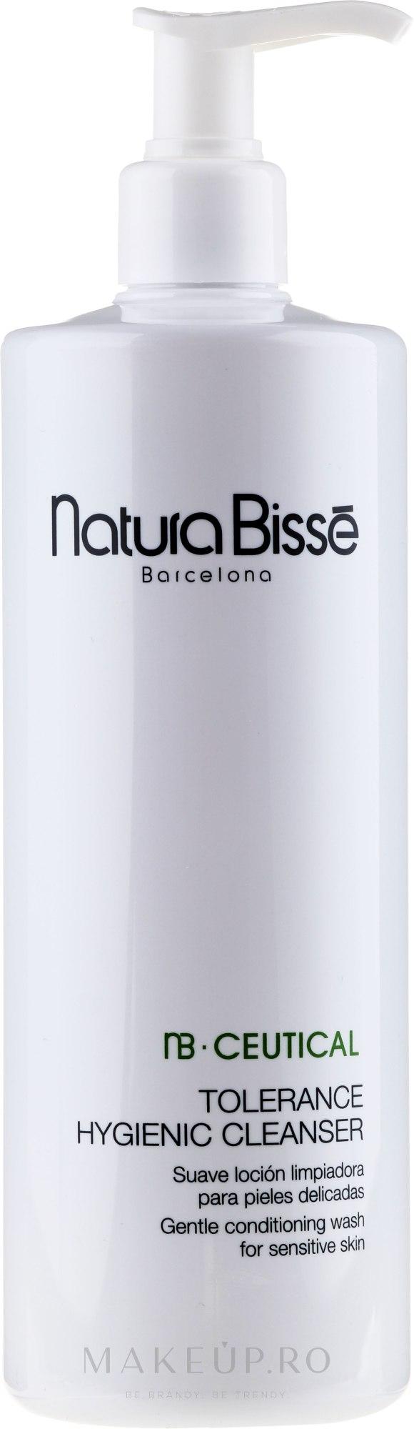 Emulsie de curățare pentru piele sensibilă - Natura Bisse NB Ceutical Tolerance Hygienic Cleanser — Imagine 500 ml