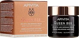 Parfumuri și produse cosmetice Cremă cu textură bogată, îngrijire anti-îmbătrânire complexă - Apivita Queen Bee Holistic Age Defence Cream Rich Texture