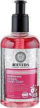 Parfumuri și produse cosmetice Săpun lichid pentru mâini - Iceveda Arctic Rose & Maharaja Lotus Nourishing Herbal Hand Soap