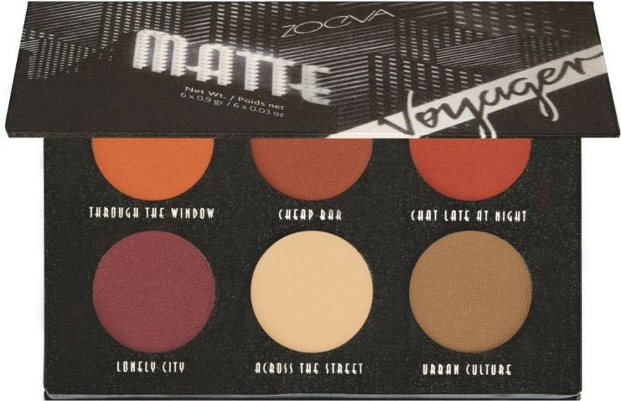 Paletă farduri de ochi - Zoeva Voyager Matte Eyeshadow Palette — Imagine N1