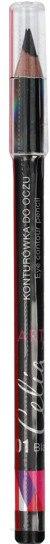 Creion pentru ochi, din lemn - Celia Art Eye Contour Pencil — Imagine 01 - Black