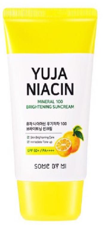 Cremă cu protecție solară SPF50+ - Some By Mi Yuja Niacin Mineral 100 Brightening Suncream — Imagine N1