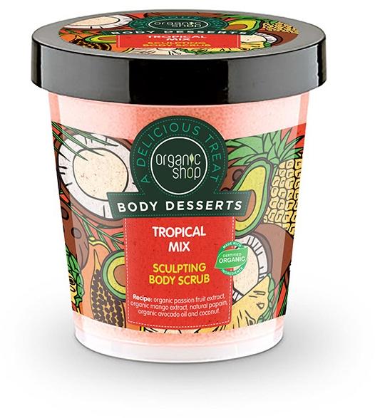 Scrub de corp anticelulită - Organic Shop Body Desserts Tropical mix — Imagine N1