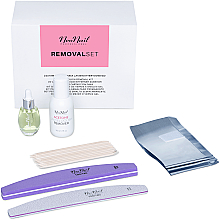 Parfumuri și produse cosmetice Set - NeoNail Professional Removal Set (rem/50ml + oil/15ml + n/file/2pc + n/wraps/100pc + sticks/10pc)
