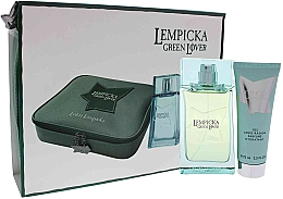 Parfumuri și produse cosmetice Lolita Lempicka Green Lover - Set (edt/100ml + afsh/gel/75ml + pouch)