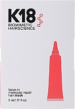 Parfumuri și produse cosmetice Mască pentru păr leave-in - K18 Hair Biomimetic Hairscience Leave-in Molecular Repair Mask (mostră)