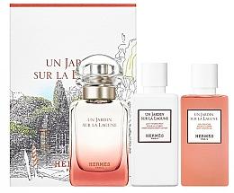 Hermes Un Jardin Sur La Lagune - Set (edt/50ml + sh/gel/40ml+ b/lot/40ml) — Imagine N1