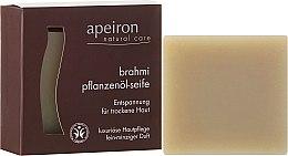 """Parfumuri și produse cosmetice Săpun natural """"Brahmi"""" pentru pielea uscată - Apeiron Brahmi Plant Oil Soap"""