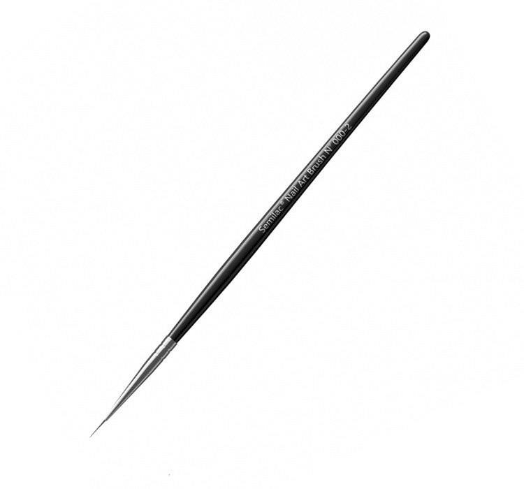 Pensulă pentru manichiură - Semilac Nail Art Kolinsky Brush 000-2 — Imagine N2