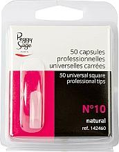 """Parfumuri și produse cosmetice Tipsuri pătrate universale """"№10"""", 50 buc - Peggy Sage Tips"""