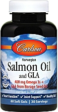 Parfumuri și produse cosmetice Ulei de somon, capsule - Carlson Labs Salmon Oil and GLA