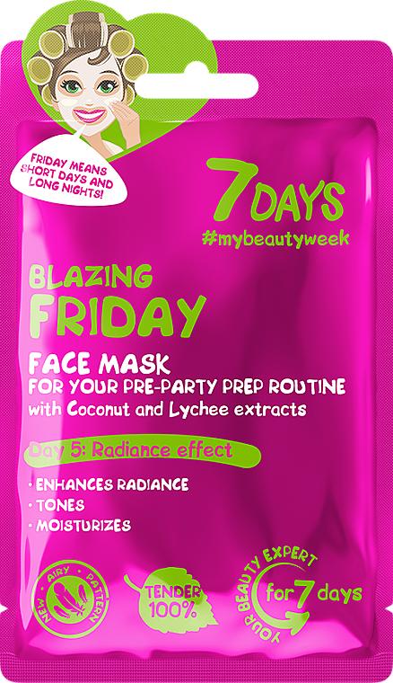 """Mască de față, pregătire de petrecere """"Blazing friday"""" - 7 Days Blazing Friday — Imagine N1"""