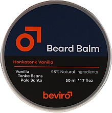Parfumuri și produse cosmetice Balsam pentru barbă - Beviro Beard Balm Vanilla, Palo Santo, Tonka Boby