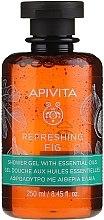 """Parfumuri și produse cosmetice Gel cu uleiuri esențiale pentru duș """"Smochine răcoritoare"""" - Apivita Refreshing Fig Shower Gel with Essential Oils"""