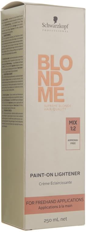 Cremă de luminare fără amoniac - Schwarzkopf Professional BlondMe Paint-On Lightener — Imagine N2
