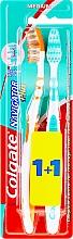 """Parfumuri și produse cosmetice Periuță de dinți """"Navigator Plus"""" medie 1+1, verde+portocalie - Colgate"""