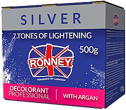 Parfumuri și produse cosmetice Pudră pentru deschiderea nuanței părului, cu ulei de argan - Ronney Professional Dust Free Bleaching Powder With Argan