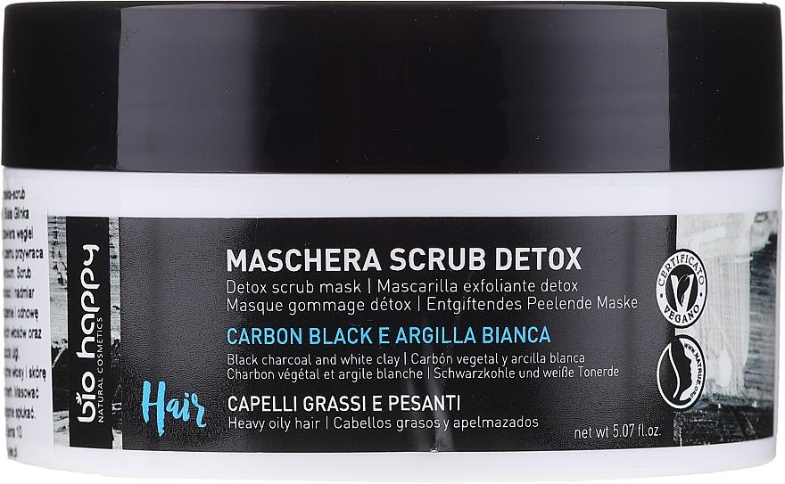 Mască-scrub pentru păr - Bio Happy Carbon Black & White Clay Scrub Mask — Imagine N1