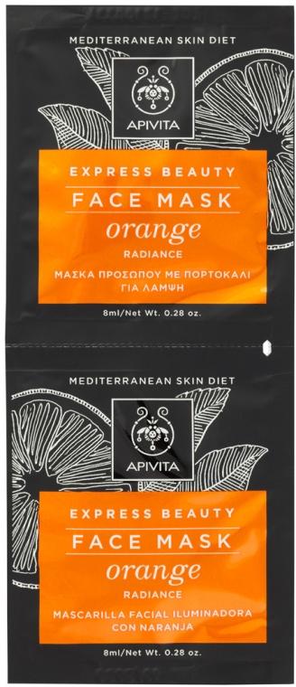 Mască cu portocală pentru vindecarea tenului - Apivita Express Beauty Radiance Face Mask