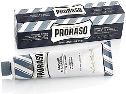 Parfumuri și produse cosmetice Crema de ras cu aloe Vera și vitamina E - Proraso Blue Shaving Cream
