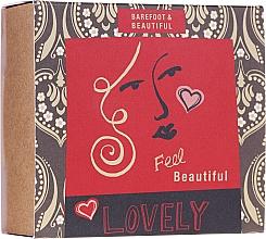 Parfumuri și produse cosmetice Set - Bath House Barefoot & Beautiful (f/mask/15g + bath salt/60ml + lip balm/15g)