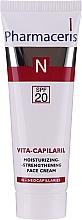 Parfumuri și produse cosmetice Cremă de față pentru hidratare și fermitate pentru piele sensibilă - Pharmaceris N Vita Capilaril Moisturizing-Strengthening Face Cream SPF20
