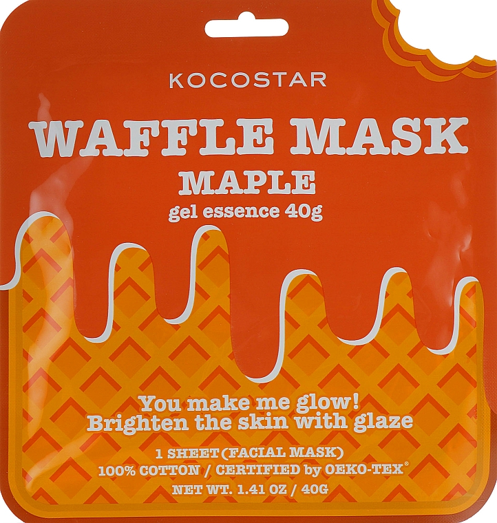 """Mască de față """"Sirop de arțar"""" - Kocostar Maple Waffle Mask"""