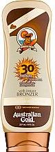 Parfumuri și produse cosmetice Loțiune de protecție solară pentru bronzare - Australian Gold Lotion With Instant Bronzer Spf30