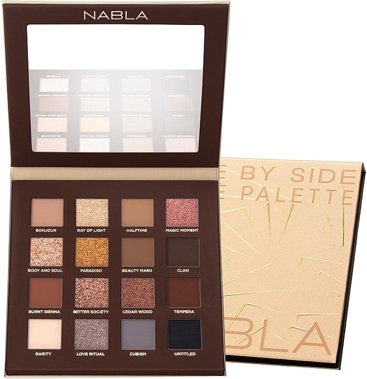 Nabla, Side by Side Nude Eyeshadow Palette (Paleta cieni