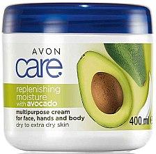 Parfumuri și produse cosmetice Cremă de față și corp - Avon Care Replenishing Moisture With Avocado Multipurpose Cream For Face, Hands And Body